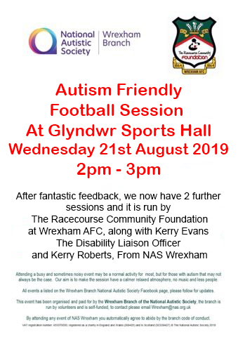 Disability Liaison Officer-our next Autism Friendly Football Session