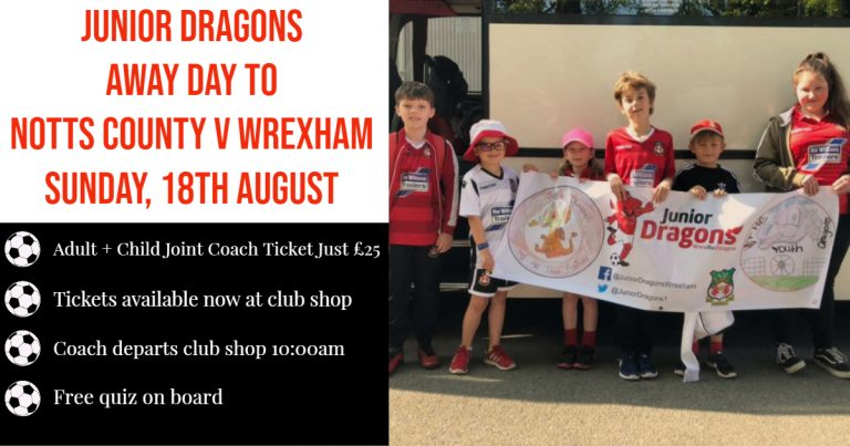 Junior Dragons Notts County Away Day